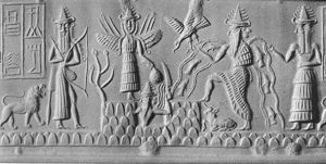 Enlil with Horns and Sumerian Gods 300x151 Satans Origin and Fall
