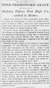 NY Tribune Excerpt 173x300 Part Ten: Modern Discoveries of Giants