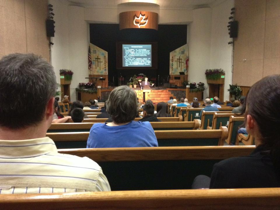 Doug teaching at the Prophecy Forum Hosanna Chapel