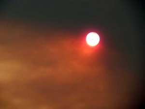 Figure 3 California fires darken sun
